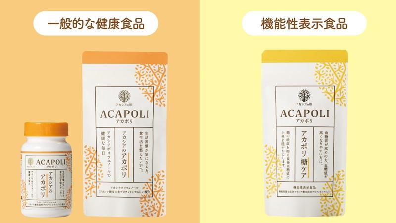 「アカポリ」「アカポリ糖ケア」比較
